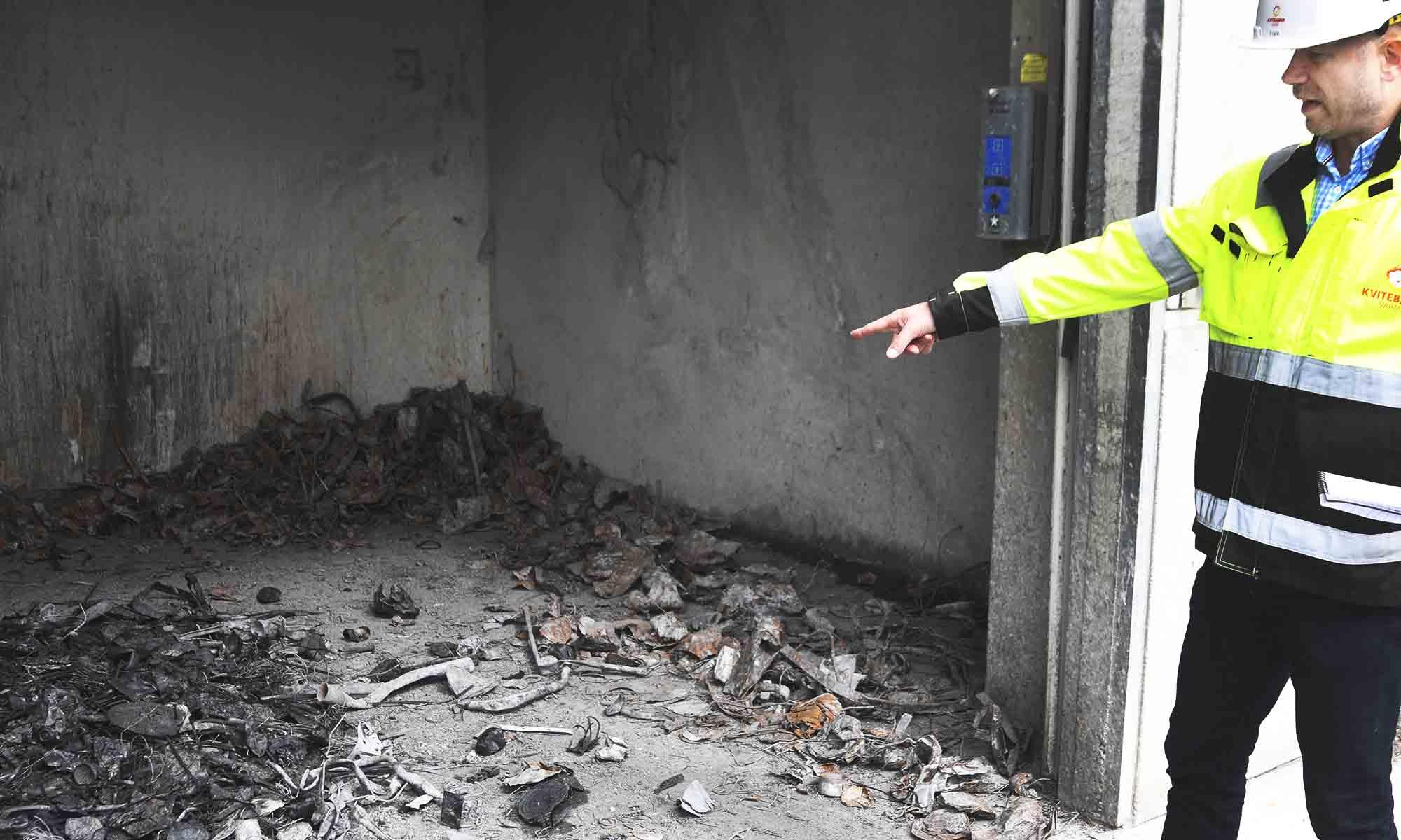 Husholdningsavfall fra Tromsø brennes i anlegget. Dessverre blandes både farlig avfall, jern og metall inn i restavfallet og fører til forurensing.
