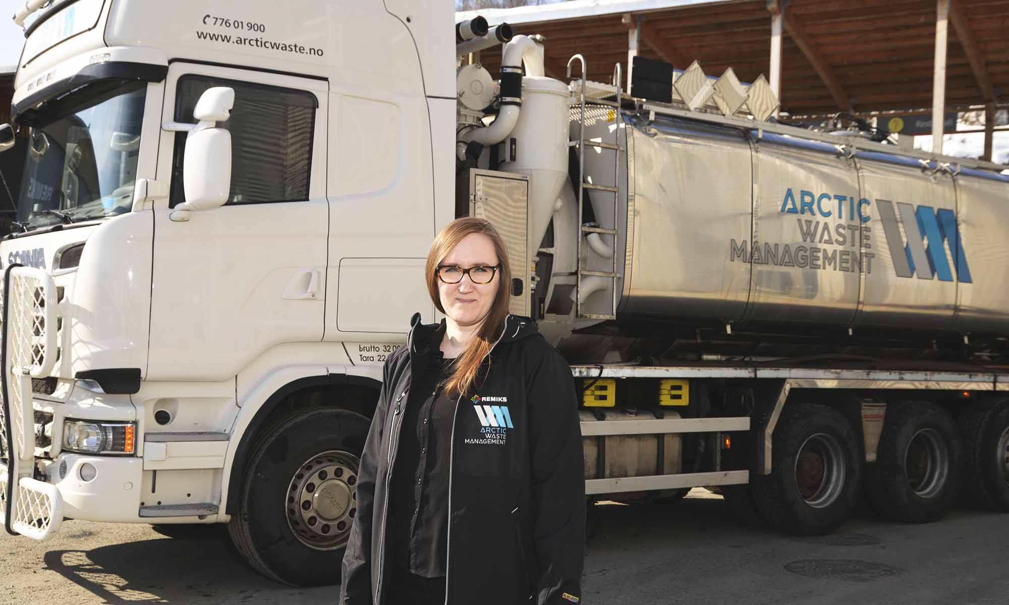 Daglig leder Liselotte Paulsen har all grunn til å være tilfreds både med utviklingen som Arctic Waste Management har, og omdømmet de har bygget opp.